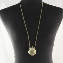 Vintage gold plated pendant Necklace for women Jewelry Openable Handbag Pendant Jewelry long chain Necklaces , NL-827