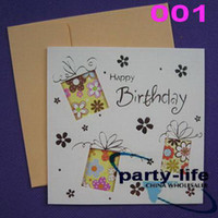 Wholesale NO designs Hollow Greeting Cards Birthday Cards Gift Cards Thank card Chritmas card
