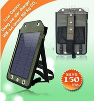 Wholesale W Portable Solar Power USB Battery Charger for Cell Phone GPS MP3 V mAh panel