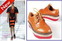 Women almond toe - Hot Seventies ladies designer shoes fashion shoes Runway Show platform shoes