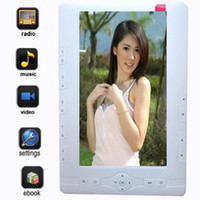 Wholesale hot sale GB inch ebook touch screen ebook reader with MP3 MP4 White
