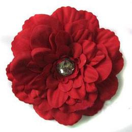 Wholesale 500pcs peony Gerber Peony baby hair bows Children s clip girl flowers band fghfhgdjhky