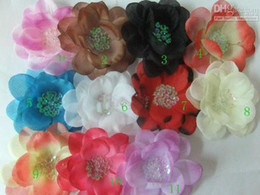 Wholesale 4 peony Gerber Peony baby hair bows Children s clip girl flowers bands