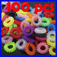 Wholesale 100X colorful telephone wire strap cord hair band