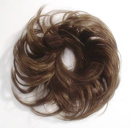 Wholesale new arrival Long Wavy Chestnut Brown Scrunchie Hair Piece Wig cheapest