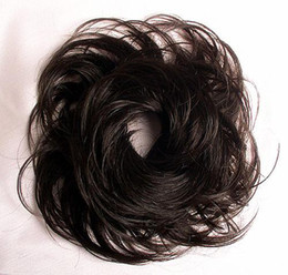 Wholesale new arrival Wavy Dark Brown Scrunchie Hair Piece Extension Wig cheapest