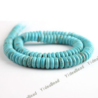 Wholesale 680 Oblate Natural Turquoise Gemstone Loose Beads Charms Spacer Diy Bead Fit Bracelets mm