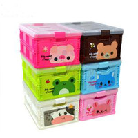 Wholesale Plastic Folding Storage Box with Lid ware kitchen Bedroom living room Animal Sorting storage Large