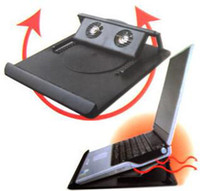 Wholesale Heat Dissipation Cooling Stand with two fans Holder degree Rotary For PC Notebook