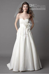 Wholesale Sweetheart a line taffeta wedding dresses a