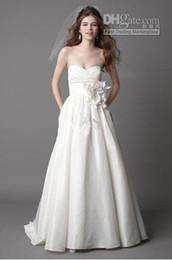 Wholesale Sweetheart a line taffeta wedding dresses a