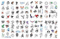 airbrush tattoo book - Lastest Hot sell golden phoenix temporary AIRBRUSH TATTOO STENCIL BOOK pictures