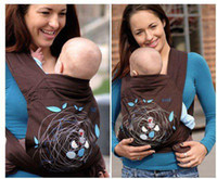 Wholesale Baby Carrier Front Back or Hip Carry High Quality Cotton Baby Carrier Sling Rider Coffee Color