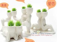 Wholesale Creative cute Hair man X lover Plant Bonsai Grass Doll Mini Fantastic Home Decoration