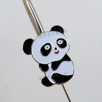 Wholesale China Panda Gifts Bookmarks Business Metal Craft Bookmark with packaging box pack Free