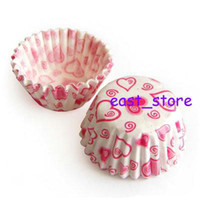 Wholesale two boxes mini tart cake chocolate paper cases cupcake heart pc67
