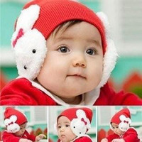 Wholesale Pieces New design baby hat santa christmas x mas baby hats