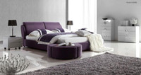 Wholesale REAL LEATHER SOFT BED NOBLE STYLE PURPLE cm E3006B