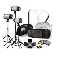 Wholesale 750W STUDIO Flash Lighting PHOTOGRAPHY STROBE LIGHT KIT