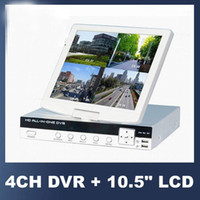 4 Channel EM-DVR 4Channel H.264 DVR HD ALL-IN-ONE 4CH DVR with mini 10.5 inch LCD screen monitor