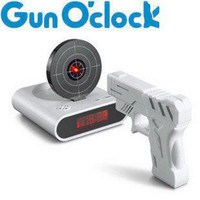 Wholesale Novelty Laser Gun Shoot Stop Target LED Digital Alarm Clock Gadget Gimmick