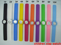 Wholesale 100pcs High Quality Kids Children Slap on Watch Silicone Mini Sport Quartz Jelly Candy Watches