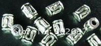 Wholesale 1200pcs Tibetan silver barrel spacer beads A487