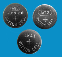 lr41 button cell - 30000pcs per AG3 LR41 SR41 V alkaline button cell battery for watches FRESH BATTERIES