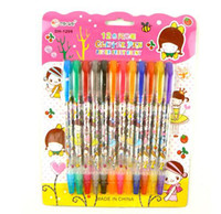 ballpoint pen refills wholesale - Blink Glitter Fruits Scent Pen super fruits scent cartoon blink pen ballpoint pen Color