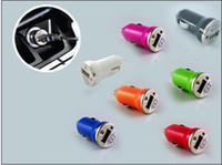 Wholesale on sale Mini USB Car Charger for iPhone3G3GS4G for ipods USB Interface