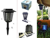 Wholesale Solar Powered Insect Pest Mosquito Killer Zapper Night Light Garden Lamp Free Express