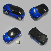 Wholesale 2 G Hz wireless car Mouse for laptop epad tablet pc notebook pc Car Shape freeshipping
