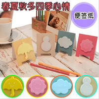 Wholesale 17sets four seasons mood Shape Sticky Notebook Note Pads Memo Scratch Daybook For Office Paper