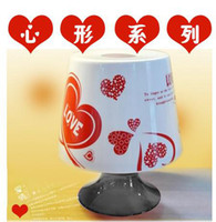Wholesale Creative Table light shaped Tissue Box Holder Paper Pot Container Napkin Bins heart shaped