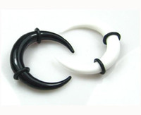 Unisex animal stretchers - Body Jewelry UV Acrylic Buffalo Ear Stretchers Taper Ears Plugs with Black O Rings Mix Colors