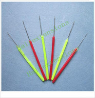 Wholesale Micro Ring Needle Pulling Needle for Feather Extension Extensions Tools Plastic Handle