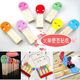 Wholesale 20sets beautiful Lovely matchstick bookmarks paper bookmarks classify tags bookmarks paper clip