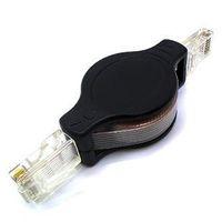 Wholesale Compact Retractable Male to Male RJ45 Ethernet LAN Cable CM Length CA01