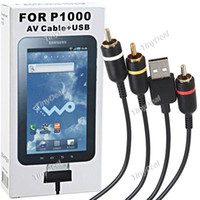 Wholesale Practical TV AV Composite Cable USB for Samsung Galaxy P1000