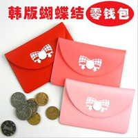 Wholesale fashion bowknot Coin Purse change pocket change purse card holder pocket Coin Sorter Purse