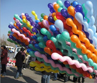 Wholesale Novelty Spiral Colorful Latex Screw Balloon Spiral Balloons For Wedding Birthday Party Kids toys
