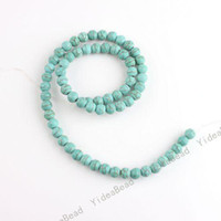 Wholesale 330 Round Shape Blue Natural Turquoise Gemstone Beads Charms Spacer Bead Fit Diy BRACELET mm
