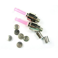 Wholesale Car Brand New Style LED Light Pink Car Wheel Tyre tire Valve Caps LED Flash light