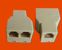 Wholesale New RJ11 RJ Connector Splitter Extender Plug Adapter