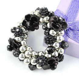 bracelets | with beaded charms and flowers , hot sell in australia ,elasty,BR-1010B