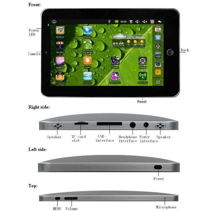 XEIB 256MB 2G Tablet PC / 7