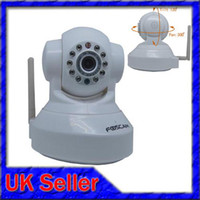 Wholesale Uk Seller IP Camera Foscam FI8918W Pan Tilt LED infrared IR Camera White Color GlobalinK