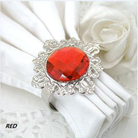 Wholesale Factory direct sale RED Napkin Ring Wedding Bridal Shower Favor Party decor HOT
