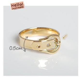 belt buckle ring silver gold alloys gifts rings