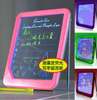 Wholesale New Romantic Fluorescence Message Board LED Writing Menu Light Up Glowing Message Board